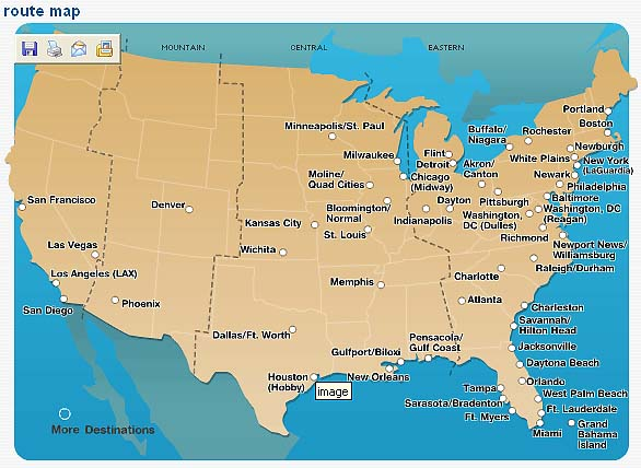 Airtranairlines Airtran Airways Route Map on